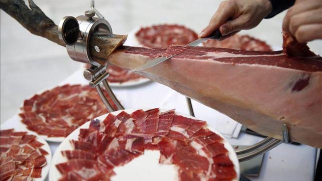 cortar jamón ibérico