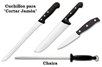 cuchillos para cortar jamón